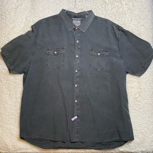 Tommy Bahama Jeans Black Denim Button Down